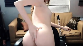 Blonde Skinny Young Masturbate On Webcam