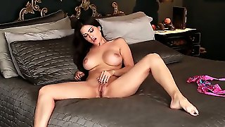 Seductive Big-Titted Cutie Sunny Leone Plays With Herself And Gets A Tremendously Sweet Orgasm! That Girl Knows How To Have A Good Indeed Time! Enjoy The Show, Gentlemen!