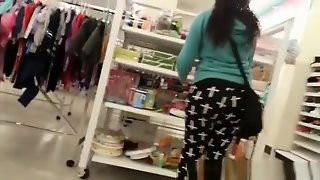 Super Fat Thick Black Booty In Tight Pants