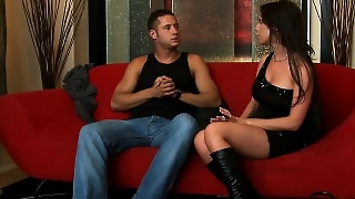Brunette Honey In Boots Brandy Aniston Take Cock