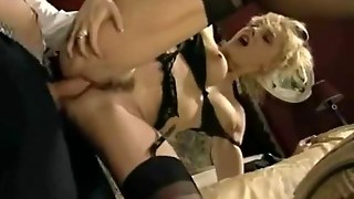 German Blonde Milf With Hairy Pussy