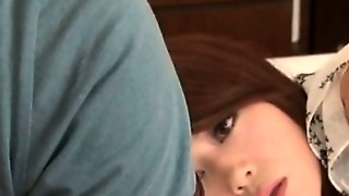 Sexy Japanese Housewife Masturbating And Fucking Hard Cock