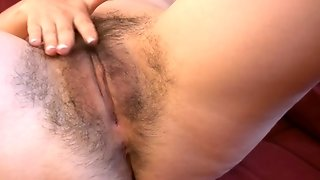 Angelina Dee Gets Off To Hairy Pussy Porn