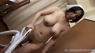 Female Asian Model Nude Shows Off Her Nice Big Tits