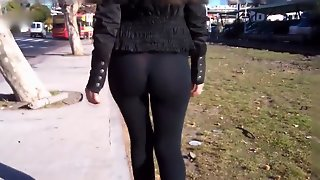 Sexy Leggings Ass Walk