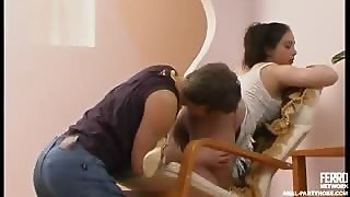 Awesome Gal In Lacy Hose Exploding Her Lust In Frenzied Ass-Plugging Action