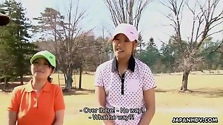 Asian Golf Bitch Gets Fucked On The Ninth Hole