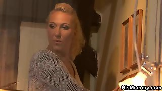 Blonde Milf And Teen Lesbian Toying