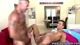Hot Gay Bear Fucks Ass