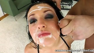 The Absolutely Stunning Alien Gets Her Face Covered In Sperm.