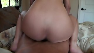 Young Busty Teen Girlfriend Wakes Up By Massage And Fucks On Tape