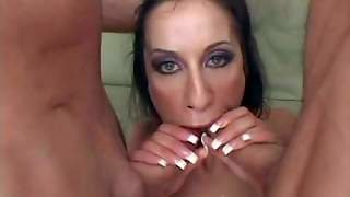 Turned On Black Haired Lusty Whore Monica Breeze With Long