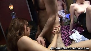 Older Guys Have Fun With 2 Amateur Teens