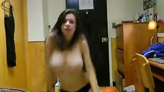 Sexy College Babe Dancing