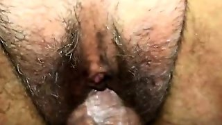 Milf With Hairy Muff Fucked And Creampied