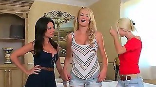 Amazing Party With Awesome Lesbians Brett Rossi, Kristen Price, Sammie Rhodes