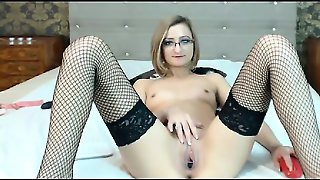 Milf In Glasses Toying Pussy