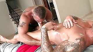 Mature, Brutal, Ass, Oil, Body Builder, Fucking, Anal, Gay Sex, Muscle, Latina, Toy