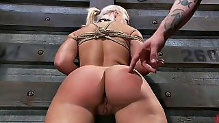 Sexy Blonde Tries Bdsm For First Time