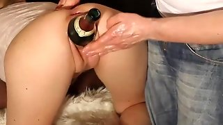 Double Fisting And Giant Bottle Insertions