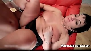 Young Boy Spanking A Fat Mature