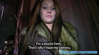 Publicagent Sex In The Toilet With Sexy Brunette