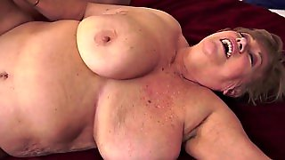 Fat Granny Pounded On The Floor
