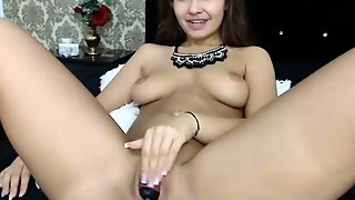 Webcam Girl Toying With Big Dildo Hd