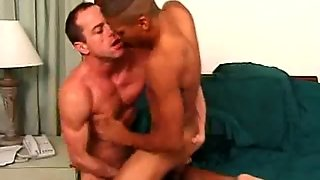 Hot Gay Interracial Butt Fucking