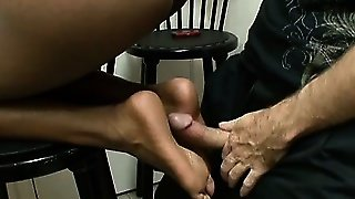 Ebony Mia White In A Foot Fetish Scene With Ass Licking And A Footjob