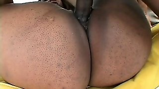Opening Shai's Big Black Ass Cheeks Wide To Fuck Her Pussy Harder