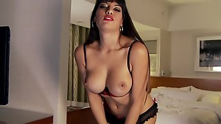 Brunette With Huge Hooters Spreads Her Legs On Cam And Feels No Shame