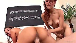 Slutty Teens Have Threesome With A Very Big Cock