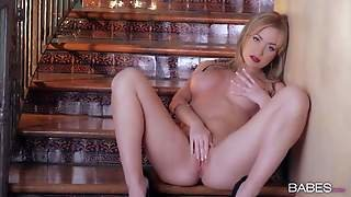 Attractive Naked Blonde Babe Angela Sommers With Big Firm Hooters