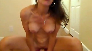 Riding Her Dildo Hard Hd