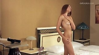 Sexy Nude Teen With Beautiful Small Tits In Bed