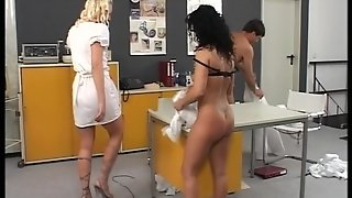 Two Nurses Studying The Male The Muscle [Clip]