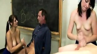 Handjob Loving Teachers Jerking Dick