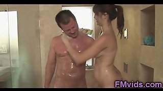 Holly Michaels Shower Sucking
