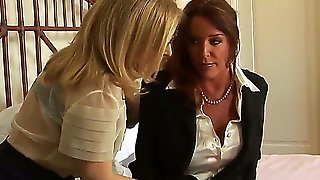 Two So Beautiful And Attractive Busty Milfs Lesbians Nina Hartley And Rachel Steele