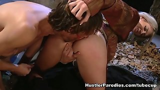 Doggystyle, Parody, Small Tits, Blonde, Facial, Natural, Hairy Pussy, Richie Calhoun, Hardcore, Blowjob, Christian Collins