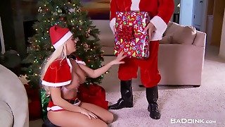 Bad Girl Gets A Present From Santa