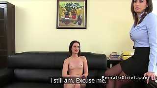 Romanian Amateur Has Threesome Casting