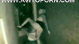 Alley Fuck Caught By Security Cam