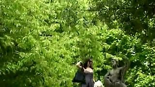 Public Nudity Flashing In The Garden