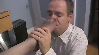 Office Nylon Foot Worship And Foot Sniffing