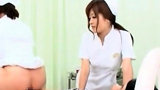 Japanese Nurse In White Rope Fucking A Cock Of Her Please