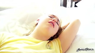 Nice Blonde Fucked On Bed