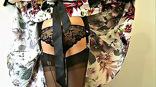 Retro Fully Fashioned Stockings And Garter Belt