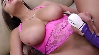 Busty Babe Is Not Contented On Huge Cock Because She Want More